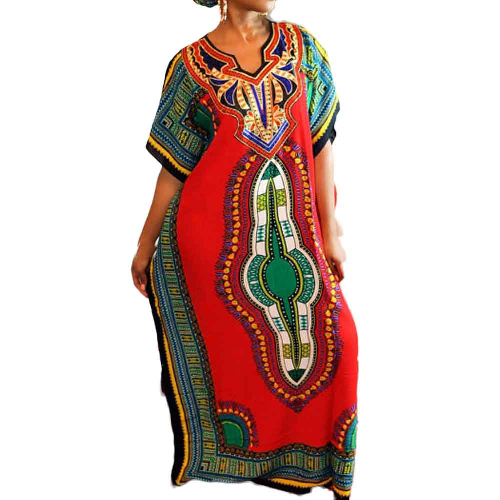 Dashiki Party Dresses Women Fashion Traditional African Print Long Dress Summer Ladies Casual Straight Maxi Dress Plus Size #Zer(China (Mainland))