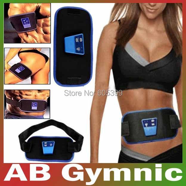Free Shipping AB Gymnic ABGymnic Electronic Full Body Muscle Arm leg Waist Massage Belt Exercise Toner Toning Lose Weight Belts(China (Mainland))
