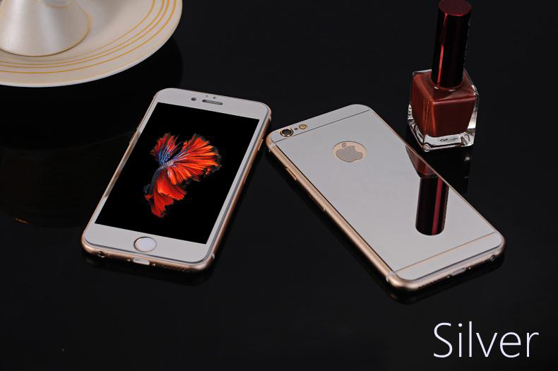 Front + Rear Premium Tempered Mirror Glass Electroplating for iphone 6 plus 6s plus 6 6s 5 5s SE 4 4s Colorful Screen No Logo