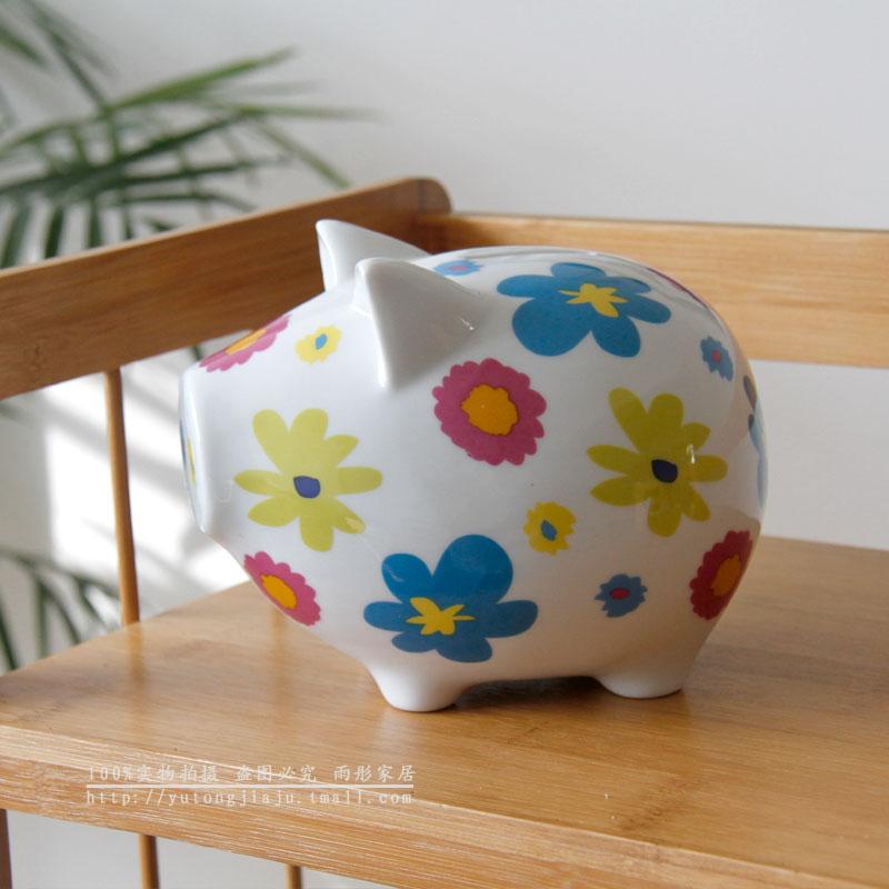 Derlook lusterware ceramic pig piggy bank household items decoration gift children gift(China (Mainland))