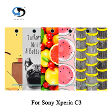 Buy 2017 Fashion Back Cover Hard Plastic Skin Shell Fruit Art Printed Case Sony Xperia C3 Case for $1.03 in AliExpress store