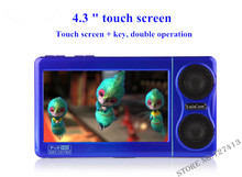 orginal 8G MP4 player touch-screen Sport music player, 4.3 inch hd LCD display,sound recording super long standby free shipping