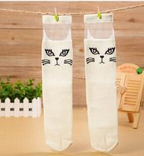 Весна лето тонкий прозрачный носки колено носки для девочки хлопок носки 2 цвета с 8 стили 6 pairs/lot