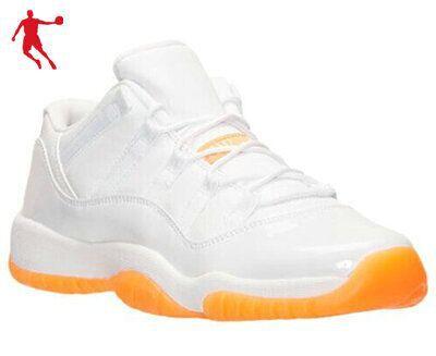 BRED LOW Women & men China Jordan 11 basketball shoes Orange white cheap price retro 11s XI JD Sport shoes big size14 sneakers(China (Mainland))