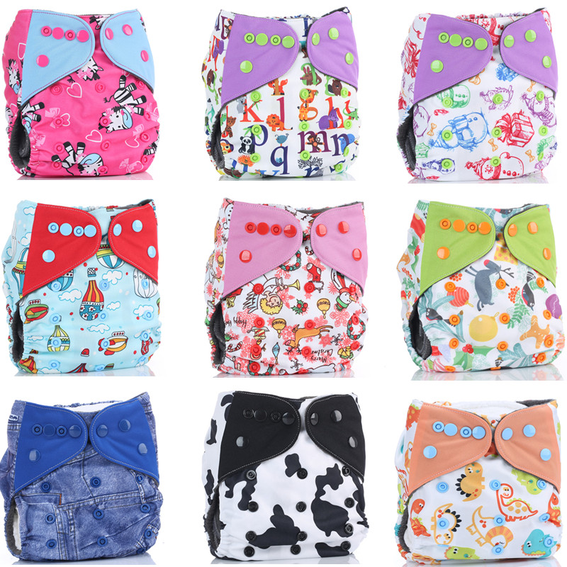 Free shipping 1pc/lot baby cloth diaper nappy printed pul bamboo charcoal inner double gussets color tab color snaps wholesale(China (Mainland))