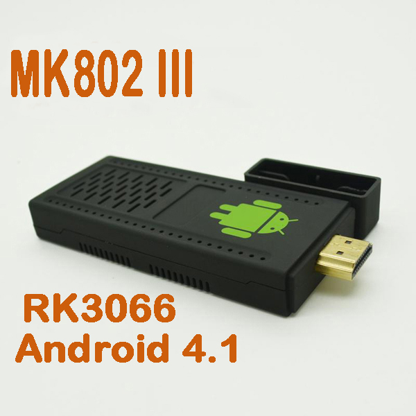 by dhl or ems 50 pieces Android/Google TV box Android 4.1 HDMI Dual Core 1.6GHz 8GB WIFI 3D RK3066 Cortex-A9 MK802 III mini pc(China (Mainland))