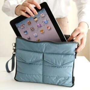 4Colors Apple iPad Bag in Bag Inner Bag Organizer Hangbag Insert ipad purse Nylon Digital Organizer Bag cosmetic train cases(China (Mainland))