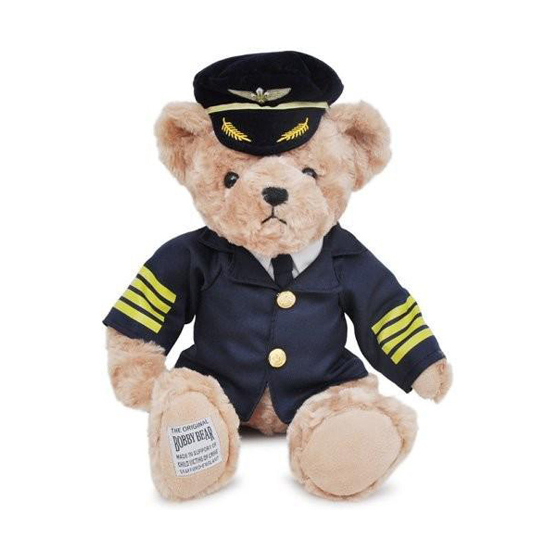 Cute pilot teddy bear plush toys soft bears in pilot animal toy for valentine gift peluches stuffed bicho ursinho de pelucia(China (Mainland))