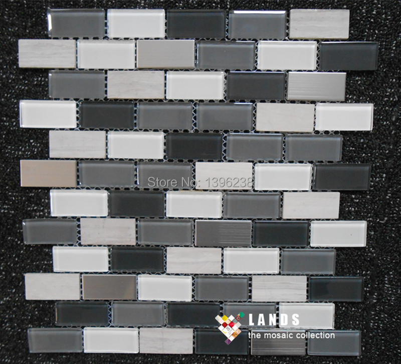 Strip glass ceramic mosaic tile,strip glass metal mosaic tiles,stock mosaic tiles,LS1548002