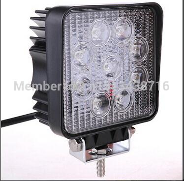 10pcs China supplier car accessories 12v 24v 27w modified car lights(China (Mainland))