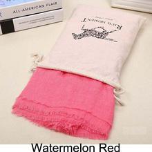 155*185cm 2015 Brand Fashion Horse Soft Cotton&Linen Blend Solid Winter Scarf Women Warm Tassel Shawls and Scarves Scarfs 19543(China (Mainland))