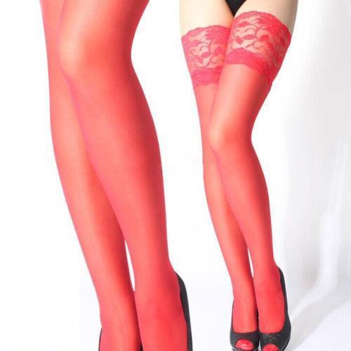 Леди женщины сексуальный модный бедра высокая шелк чулок кружево верхний нижнее белье