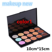 1pc colors Professional Concealer Palette 15 Color Concealer Facial Face Cream Care Camouflage Makeup base Palettes Cosmetic set(China (Mainland))