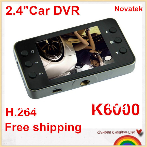 """Best Discount!cheap Mini 2.4"""" Car DVR K6000 NOVATEK Chip LCD Recorder Video Dashboard Vehicle Camera Dropshipping is welcomed!(China (Mainland))"""