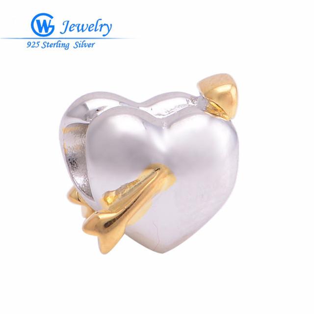 Новый стерлингового серебра 2016 в форме сердца подлинная стерлингового серебра 925 ...