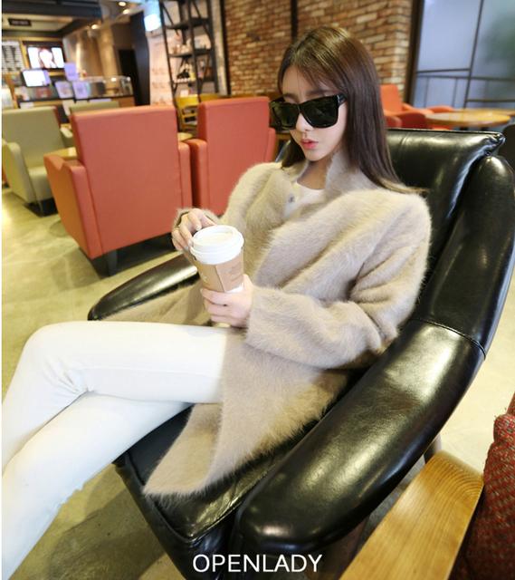 Новый чистый норки кашемировый свитер женщин 100% норки кашемира кардиганы свитер ...