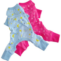 New Dog Clothes Moon Flowers Print Blue Hot Pink Sleepwear Sweet Style Jumpsuit Pet Puppy Teddy Spring Summer Clothing for Dogs