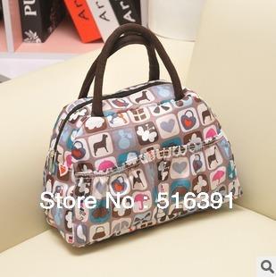 Hot sell 26 style fashion waterproof floral print carrier bag small shopping bag tote bag handbag free shipping
