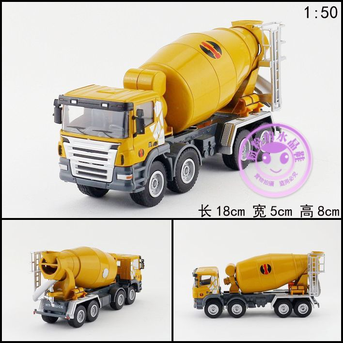 Huayi car model high artificial toy engineering car alloy cement mixer truck(China (Mainland))