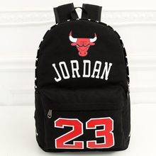 New Leisure Fashion Student Lovers Canvas Backpack Shoulder Bags JORDAN Backpacks Men and Women School bag(China (Mainland))