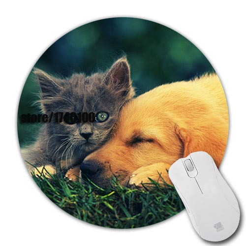 2015 Novelty design cats animals dogs pets background pattern gaming Notebook Mouse Pad(China (Mainland))