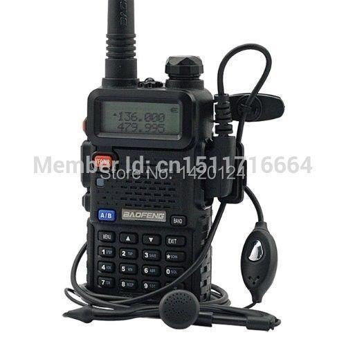 New Baofeng Black UV-5R two way radio dual band 136-174MHz&400-520 MHz cheap Walkie Talkie with free shipping(China (Mainland))