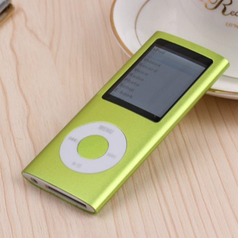 popular green 8GB Multi-lingual Selection 1.8 LCD Portable MP3 Player Video Music free ship not for ipod nano 4(China (Mainland))