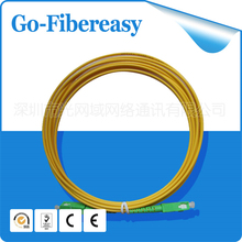 1 piece Fiber Optic Patch Cable Jumper SC/APC-SC/APC SM 9/125 PVC 3.0mm 4m Single cord mode - Shenzhen GoFibereasy Network Communication Co.,LTD store