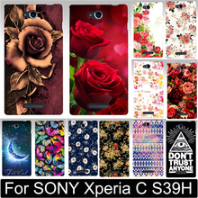 Buy Newer Print Beautiful Flower Rose Peony Tulip Fish Swan Hood Phone Cases Covers SONY Xperia C S39H C2305 Case Shell for $1.29 in AliExpress store