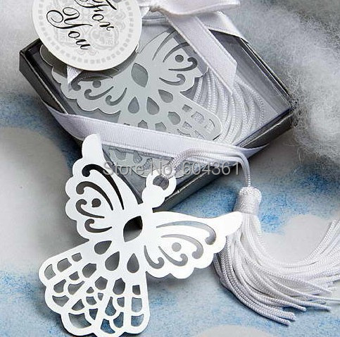 50pcs Free Shipping wedding products favors and gifts Angel metal Bookmark Christmas birthday Party gift(China (Mainland))