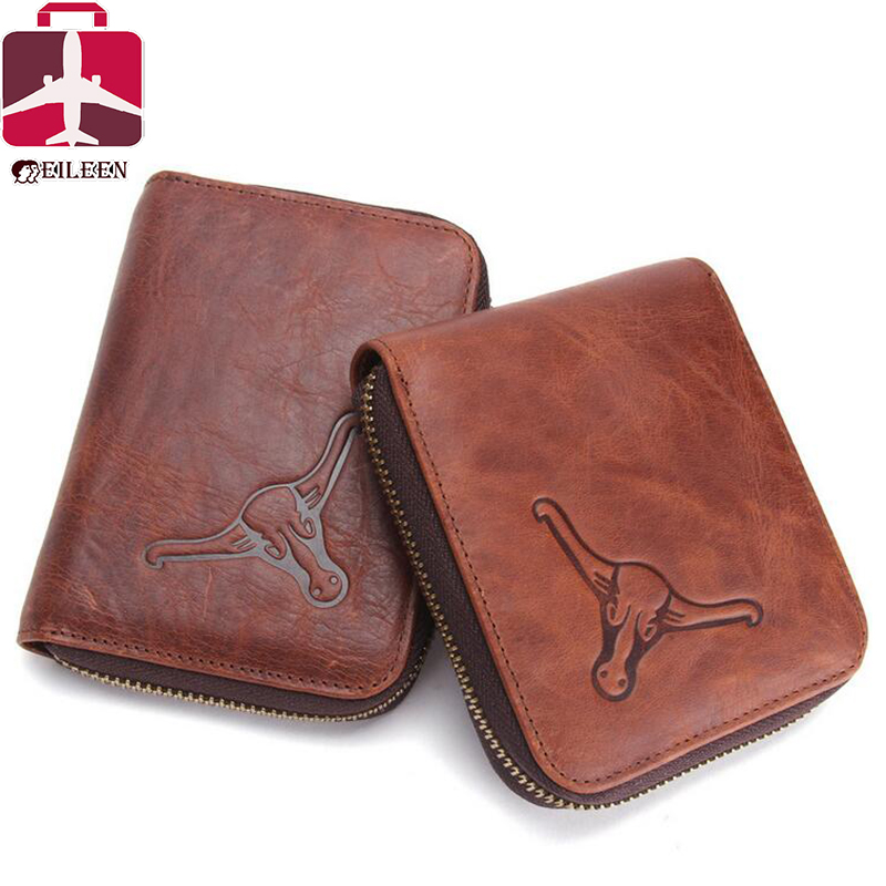 2016 Coin purse genuine leather wallet famous brand short designer travel men wallets small luxury card wallet clutch business(China (Mainland))
