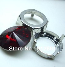 Free shipping 36pcs 14mm light siam Rivoli Chaton crystal glass Jewelry accessories(China (Mainland))