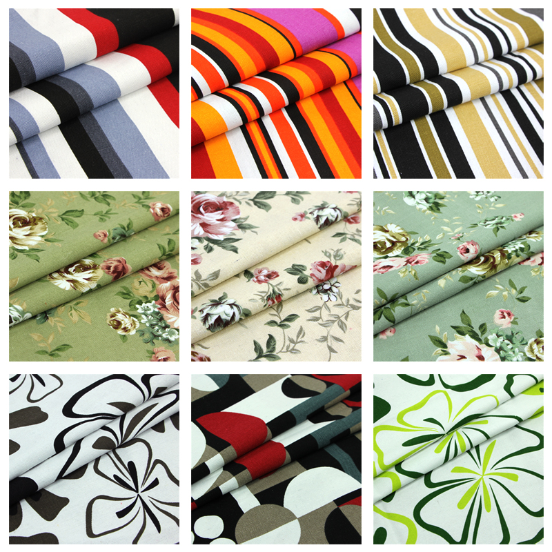 1 meter 100% cotton canvas fabric for sewing zakka tecido patchwork fabric textile cloth handmade DIY printed heavy ethnic new(China (Mainland))
