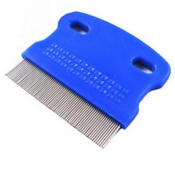 6.3 *5.7cm pet stainess steel lice Comb Both Sided Comb Hairbrush Hair Care Styling Tools(China (Mainland))