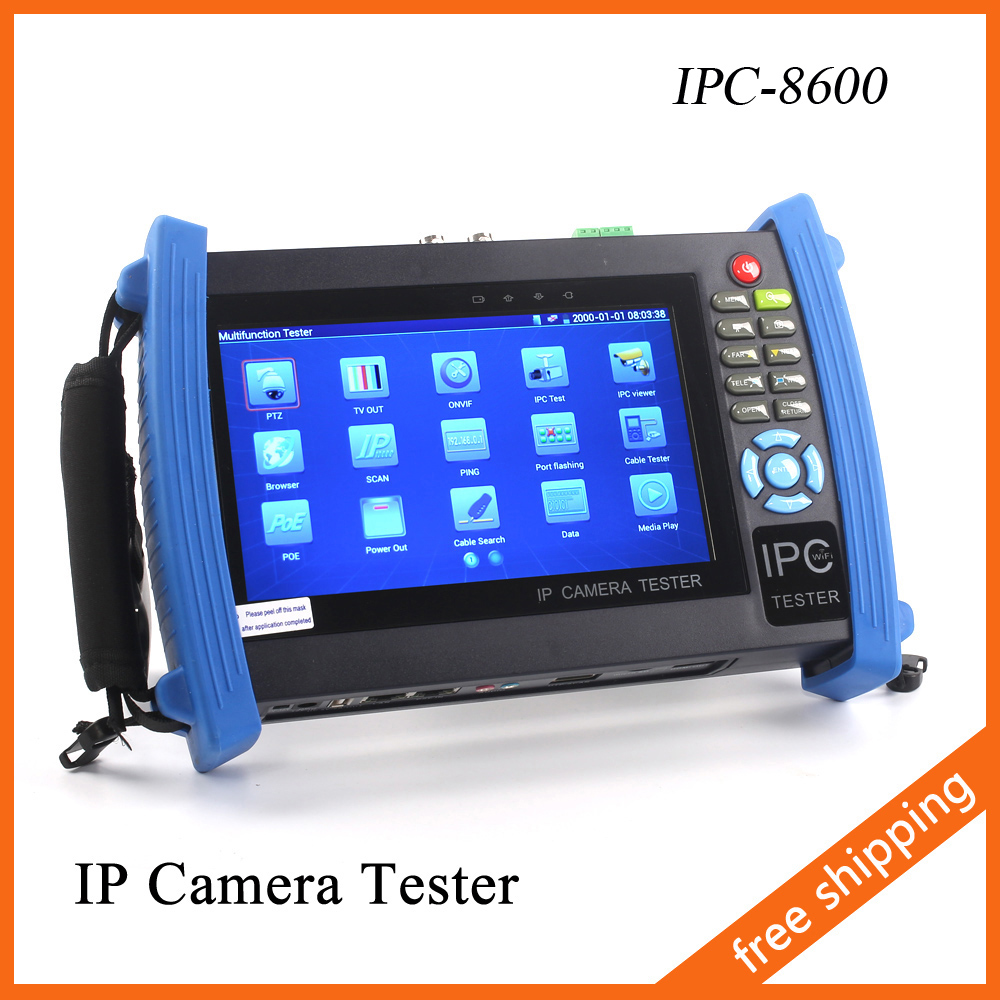IPC-8600 7 Inch IP Camera Tester Touch Screen 1080P HDMI CCTV Tester POE Test PTZ Control WIFI Onvif Monitor Tester(China (Mainland))