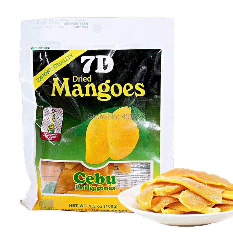 Atacado e varejo de doces lanche de frutas instantâneo de filipino secas de manga lanches 100 g 1 pcs(China (Mainland))