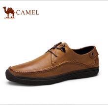 Camel men's leather shoes 2016 comfortable super-soft men's fashion shoes male casual shoes cowhide leather shoes casual