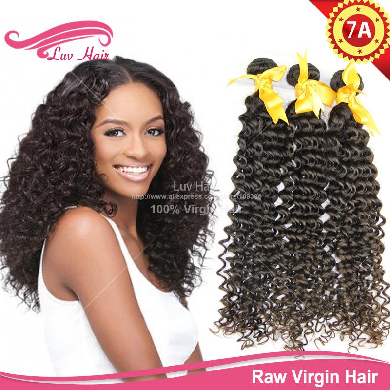 100% human hair tangle free full cuticle virgin malaysian deep curly weave guangzhou - Luv Hair store