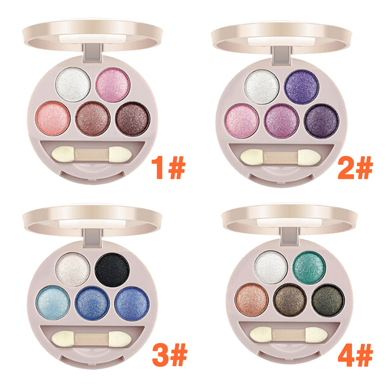 New Dual-use 5 Colors Eye Shadow Wet&Dry Eye Shadow for Lady 4 Style(China (Mainland))