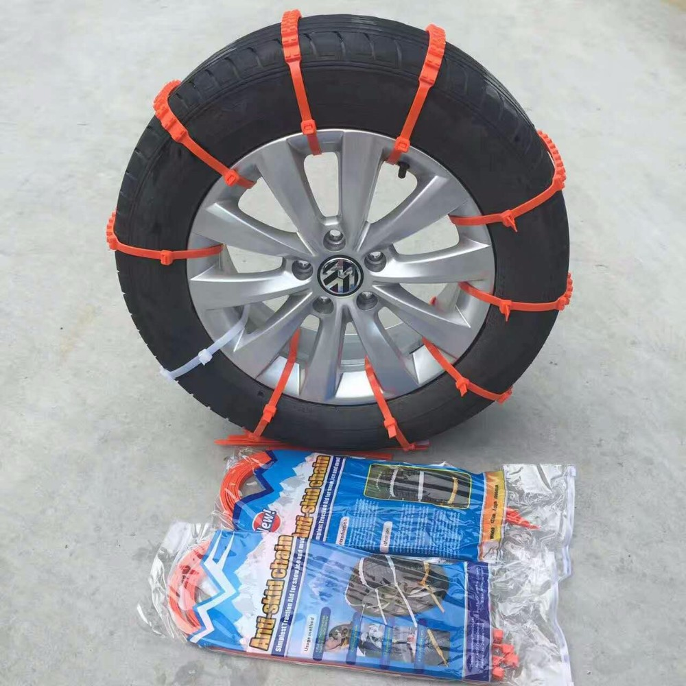 2017 Brand new 10PCS 12*1000mm Car Snow Tire Anti-skid Chains Dupont nylon resin PA66 tie for snow & dirt road