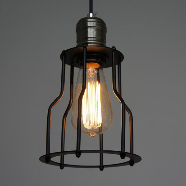 Brand New High Quality Nordic American country intage Iron Cage Chandelier Retro Edison Light Pendant Lamp 85-265V AC(China (Mainland))