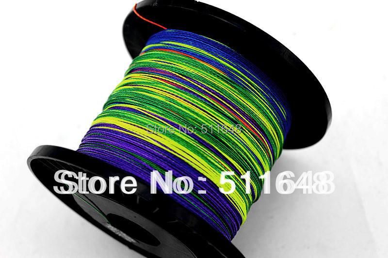 Free Shipping Multicolor 300M/PCS PE Braid Fishing Lines 10,15,20,25,30,35,40,45 50 60 70 80 90LB