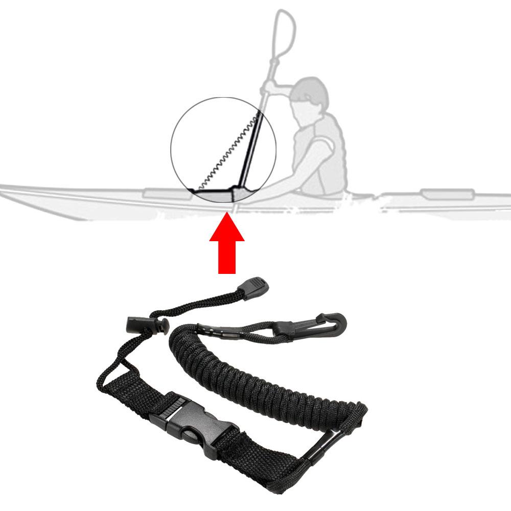 1Pcs Coiled Paddle Leash Kayak Canoe Safety Rod Leash Fishing Rod Lanyard Stretches to 150cm(China (Mainland))