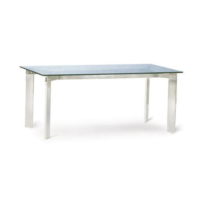 Chair Of The World Stainless Steel Glass Dining Table Long