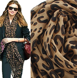 New Style Fashion Hot Leopard Scarf Women Warm animal print Leopard favorite super star shawl Free Shipping Spring chiffon scarf(China (Mainland))