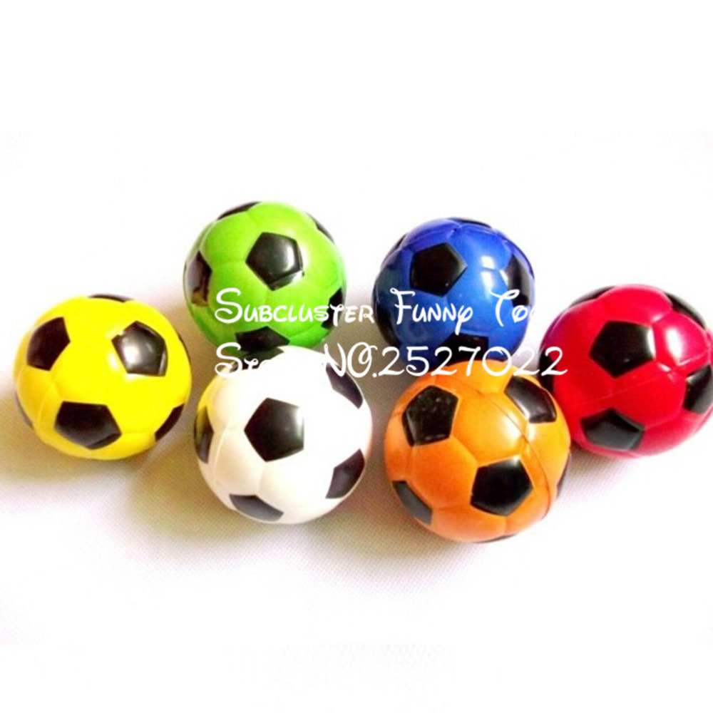 JIMMY BEAR 1 Pcs Football Ball Exercise Stress Relief Squeeze Elastic Soft Foam Ball 6.3cm(China (Mainland))