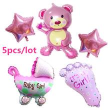 Hot 5pcs/set air baloon baby girl balloon foil ballons for baby birthday party globos decoration baloes de festa classic toys