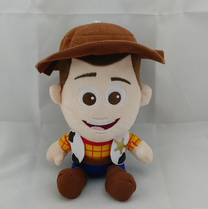 "Free Shipping 7""18cm Toy Story 3 Woody Stuffed Plush Doll Soft Toys Gift For Kid Retail 1pcs hot sale(China (Mainland))"
