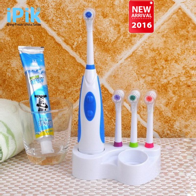 New Battery Electric Toothbrush Ultrasonic Sonic Rotary Electric Toothbrush No Rechargeable Tooth Brush Electric(China (Mainland))