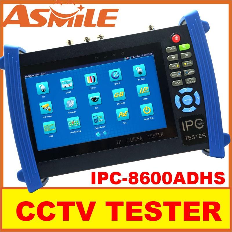 2016 hot sale 7 inch IPC-8600ADHS CCT Tester  CCTV camera tester for IP AHD CVI TVI SDI analog from asmile <br><br>Aliexpress